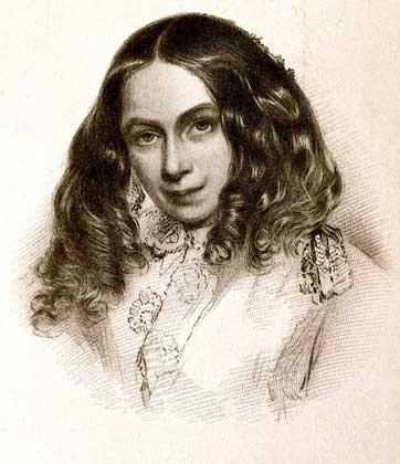 портрет Элизабет Баррет Браунинг